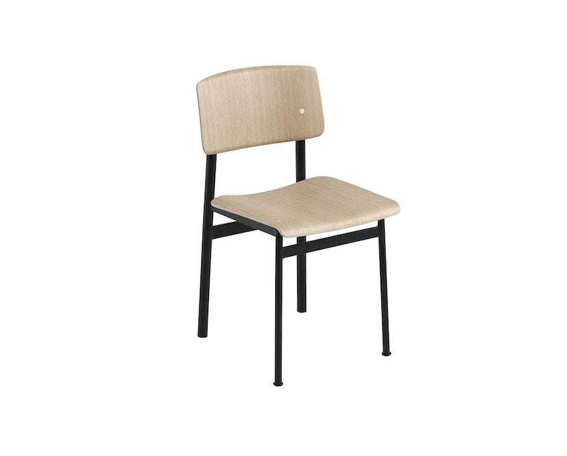 Muuto - Loft Stuhl - schwarz/Eiche - 2