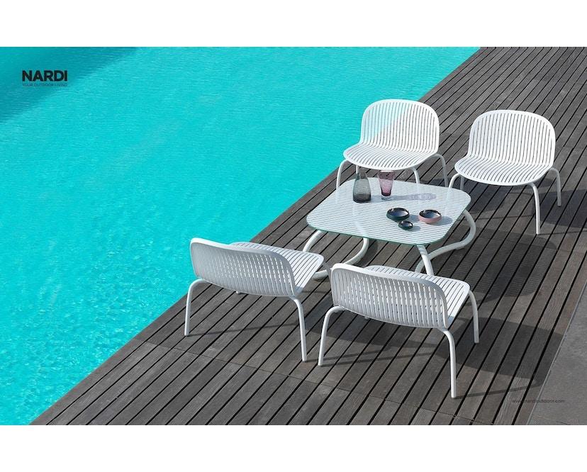 Nardi - Loto Relax 95 Tafel - wit - wit - Breite/Tiefe 95 x 95 cm - 8