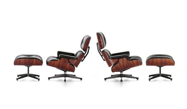 Vitra - Black Lounge Chair & Ottoman - 2