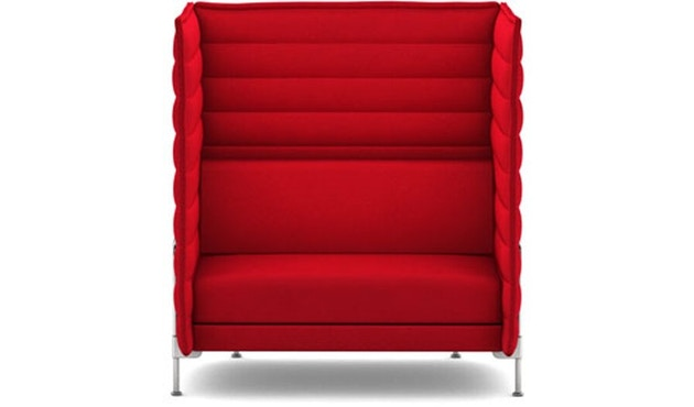 Vitra - Alcove Highback Love Seat - Laser rood - 1