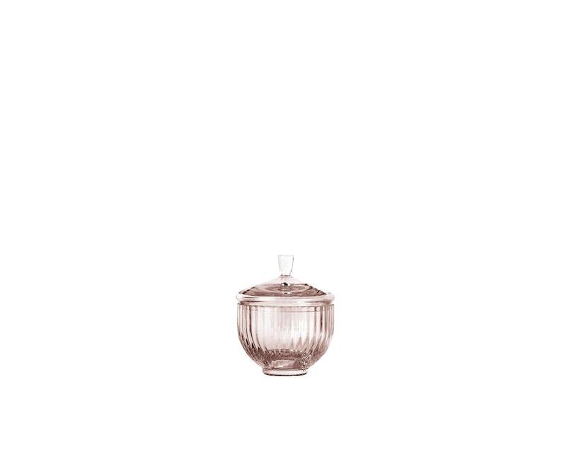 Lyngby Porcelæn - Lyngby Glas-Bonbonniere Ø 10 cm - Burgundy - 1
