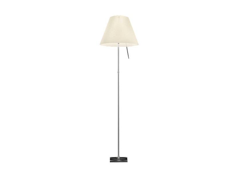 Luceplan - Costanza D13 t.c. vloerlamp - dimmbar - alu/weiß - dimbaar - wit - aluminium - 1
