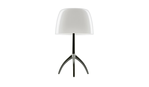 Foscarini - Lampe de table Lumiere Piccola - blanc - non dimmable - Cromo Nero - 6