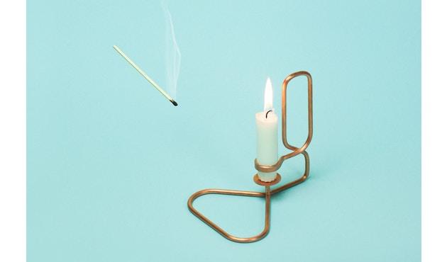 HAY - Lup Kerzenständer - Quadrat - kupfer - 4