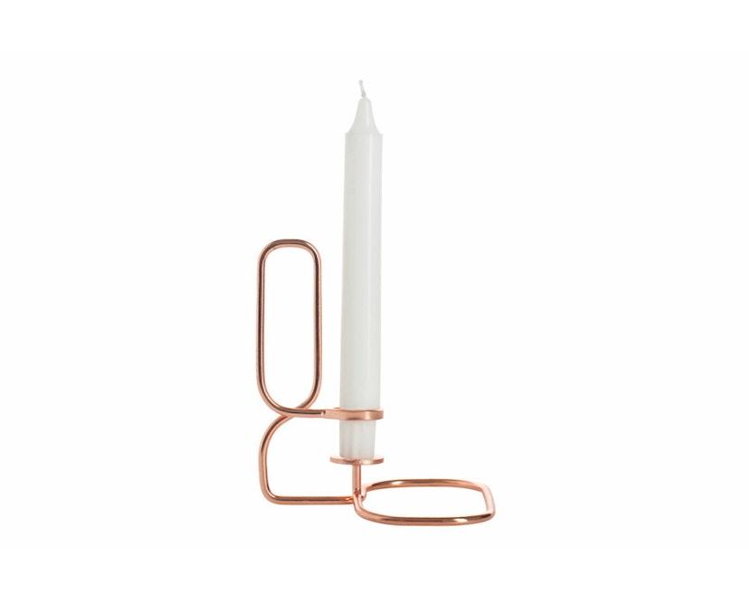 HAY - Lup Kerzenständer - Quadrat - kupfer - 2