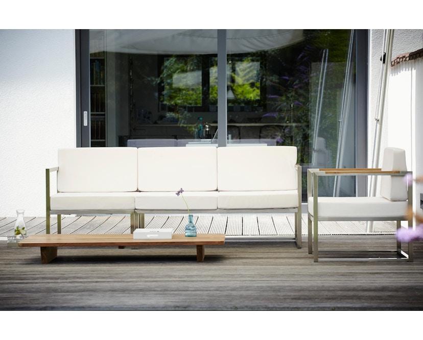 Jan Kurtz - Lux Lounge Armlehnsessel - schwarz - Gestell Edelstahl - 2