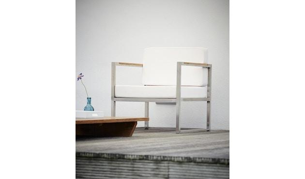 Jan Kurtz - Lux Lounge Armlehnsessel - schwarz - Gestell Edelstahl - 1