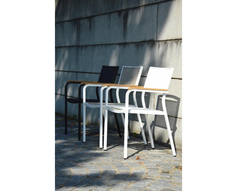 Jan Kurtz - Lux Alu stapelstoel - zwart - 2