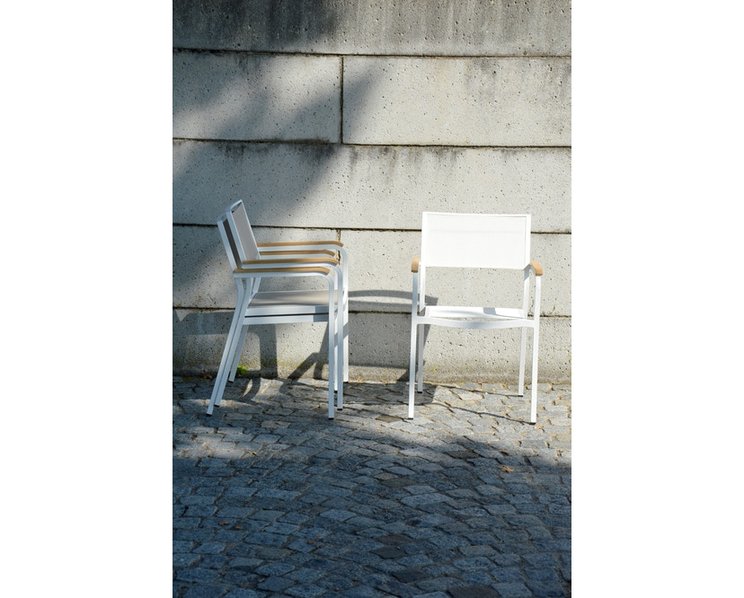 Jan Kurtz - Lux Alu Stapelsessel - weiß/weiß - weiß/weiß - 5