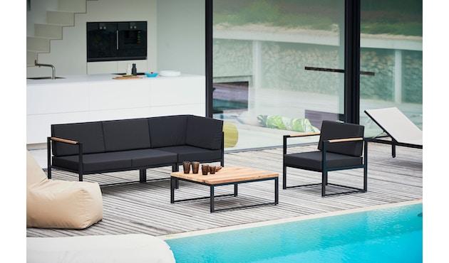 Jan Kurtz - Canapé d'angle Lux Lounge - Variante 1 - noir - noir - 2