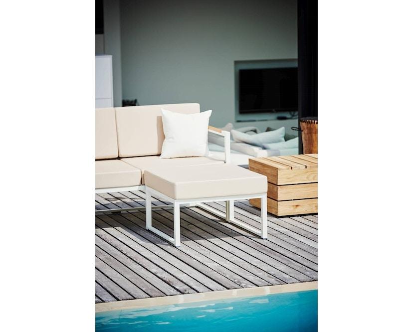 Jan Kurtz - Lux Lounge Eckkombi - Variante 1 - grau-weiß - Gestell weiß - 3
