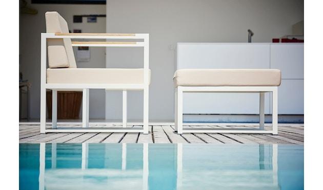 Jan Kurtz - Lux Lounge Eckkombi - Variante 1 - grau-weiß - Gestell weiß - 4