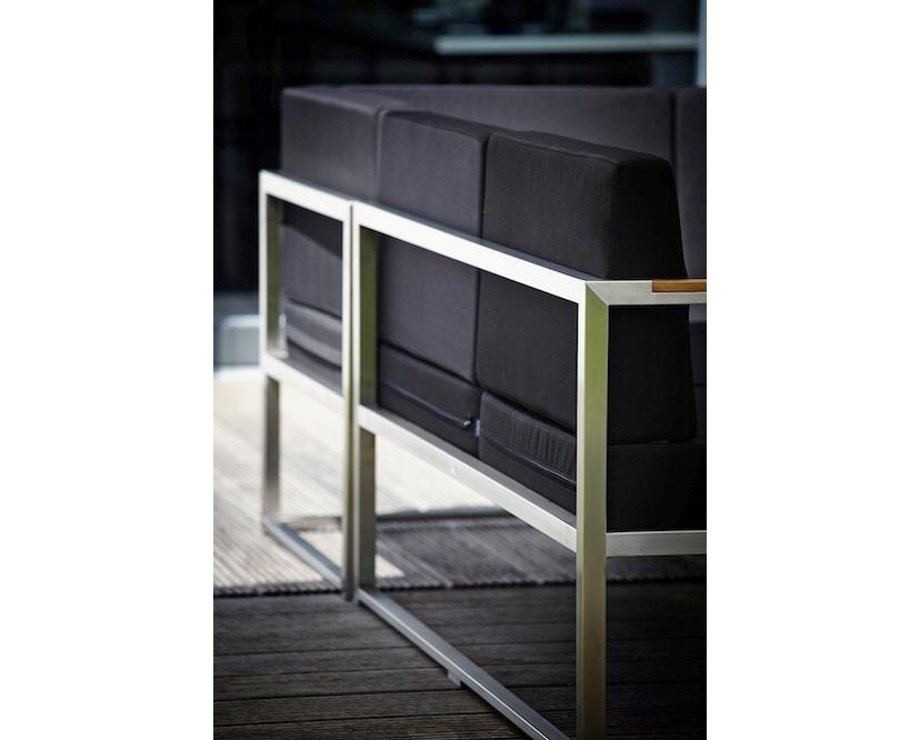 Jan Kurtz - Lux Lounge Sitzkombi - Variante 4 - schwarz - Gestell Edelstahl - 3