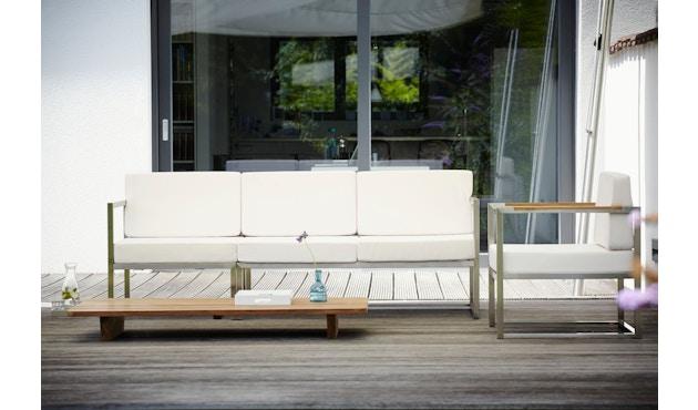 Jan Kurtz - Lux Lounge hoekcombi - Variant 2 - grijs/wit - Roestvrij staal - 4