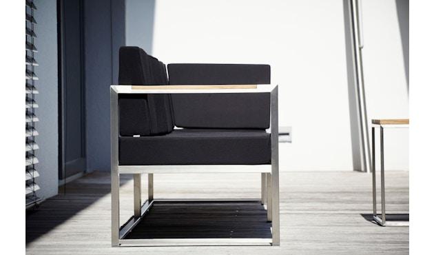 Jan Kurtz - Lux Lounge Eckkombi - Variante 3 - schwarz - Gestell Edelstahl - 3
