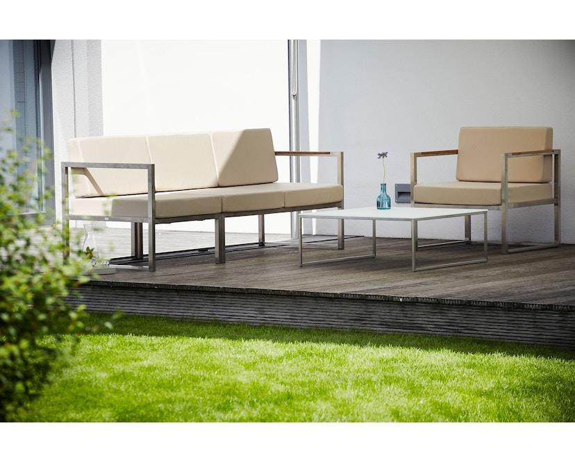Jan Kurtz - Lux Lounge hoekcombi - Variant 2 - grijs/wit - Roestvrij staal - 5