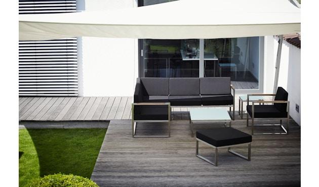 Jan Kurtz - Lux Lounge Sitzkombi - Variante 4 - schwarz - Gestell Edelstahl - 2