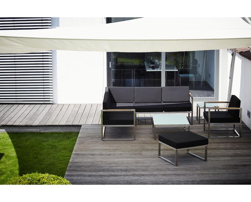 Jan Kurtz - Lux Lounge Eckkombi - Variante 3 - schwarz - Gestell Edelstahl - 4