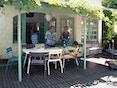 Fermob - LUXEMBOURG Gartenbank mit Rückenlehne - 01 Baumwollweiss matt - 4