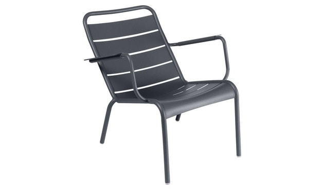 Fermob - LUXEMBOURG lage fauteuil - 47 antraciet mat - 4
