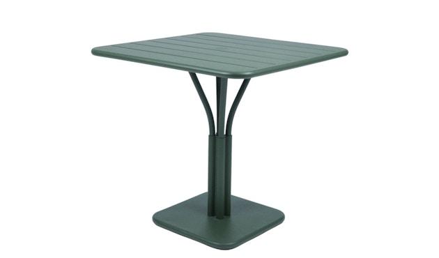 Fermob - LUXEMBOURG Tisch mit Säulenfuß - 02 Zederngrün matt - 1