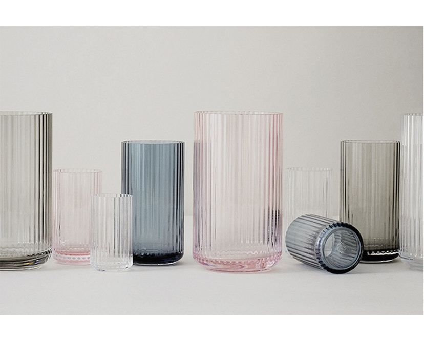 Lyngby Porcelæn - Lyngby Glasvase - 20 cm  - Burgundy - 3