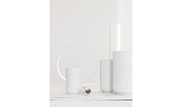 Lyngby Porcelæn - Lyngby Porzellanvase - 12 cm - hellgrau - 4