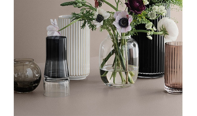 Lyngby Porcelæn - Lyngby porseleinen vaas - goud gestreept - 15 cm - 7