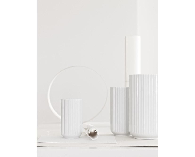 Lyngby Porcelæn - Lyngby Porzellanvase - 8 cm - hellgrau - 4