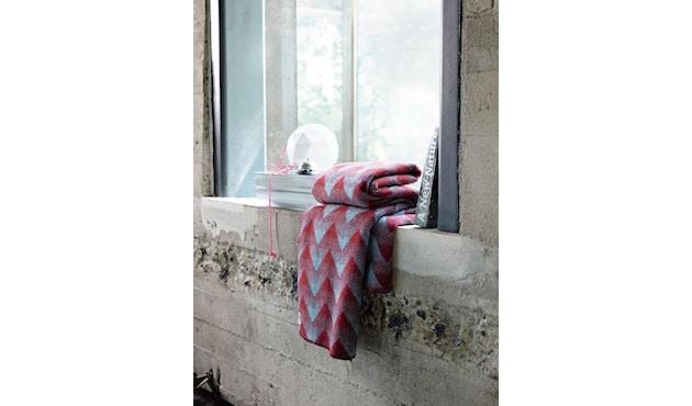 Roros Tweed - Lynild Decke - red-blue - 4