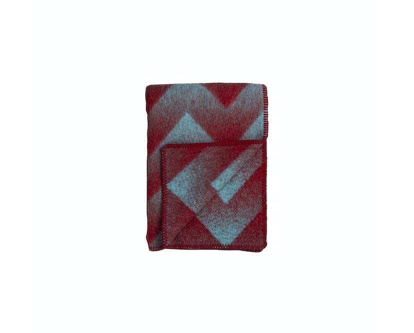 Roros Tweed - Lynild Decke - red-blue - 1