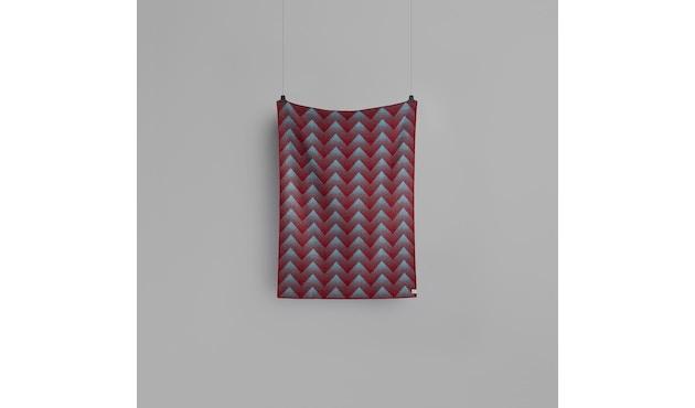 Roros Tweed - Lynild Decke - red-blue - 2