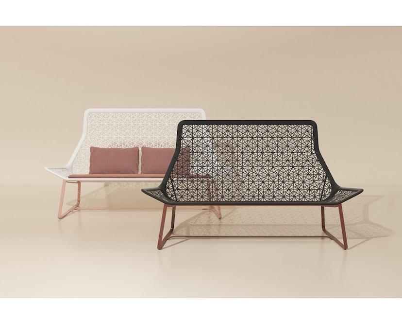 Kettal - Maia 2-Sitzer Sofa - mangangrau/ kastanienbraun - 2