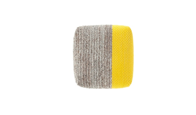 Gan - Manga Pouf - Square Plait yellow - 4