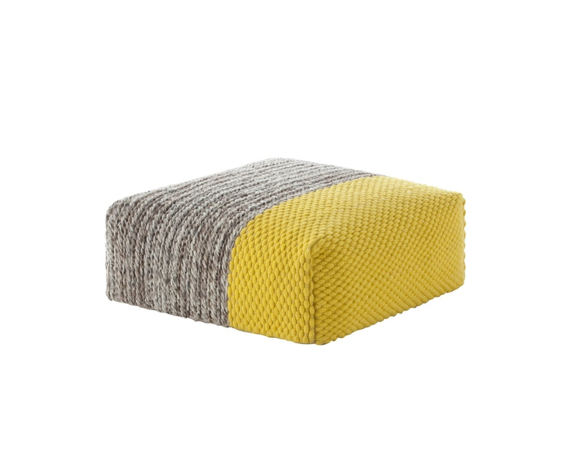 Gan - Manga Pouf - Square Plait yellow - 3
