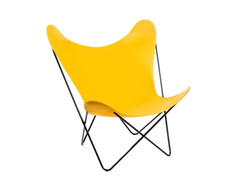 Manufakturplus - Butterfly Chair Hardoy - B.K.F. Chair Stahlrahmen schwarz, Acryl gelb - 4
