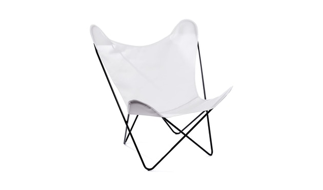 Manufakturplus - Butterfly Chair Hardoy - B.K.F. Chair Stahlrahmen weiß, Acryl weiss - 4