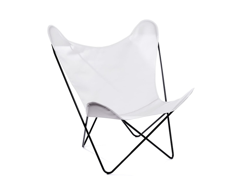 Manufakturplus - Butterfly Chair Hardoy - Acryl - Staal wit - Acryl wit - 4