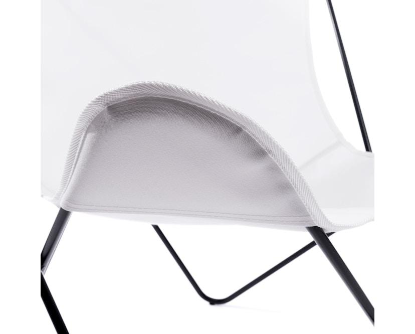 Manufakturplus - Butterfly Chair Hardoy - B.K.F. Chair Stahlrahmen weiß, Acryl weiss - 5