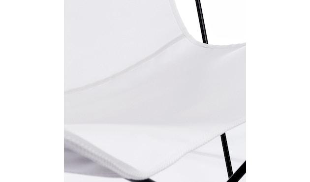 Manufakturplus - Butterfly Chair Hardoy - B.K.F. Chair Stahlrahmen weiß, Acryl weiss - 6