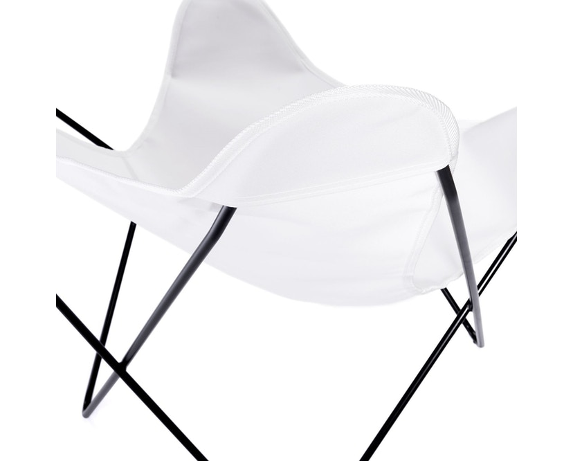 Manufakturplus - Butterfly Chair Hardoy - B.K.F. Chair Stahlrahmen weiß, Acryl weiss - 7