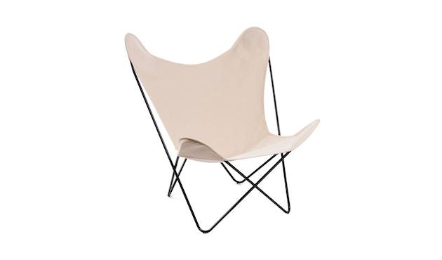 Manufakturplus - Butterfly Chair Hardoy - B.K.F. Chair Stahlrahmen schwarz, Pure Cotton - 1