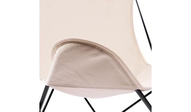 Manufakturplus - Butterfly Chair Hardoy - B.K.F. Chair Stahlrahmen schwarz, Pure Cotton - 2