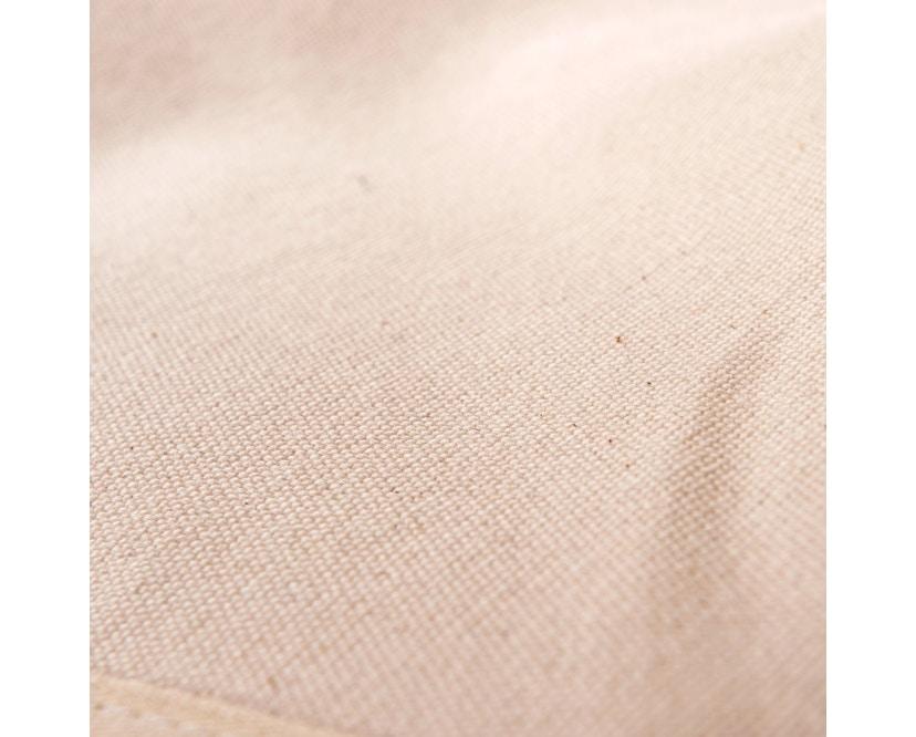 Manufakturplus - Fußteil für Hardoy Butterfly Chair - Stahlrahmen schwarz, Pure Cotton - 4