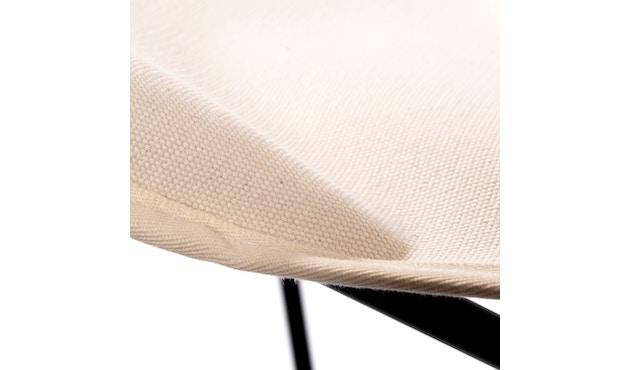 Manufakturplus - Butterfly Chair Hardoy - B.K.F. Chair Stahlrahmen schwarz, Pure Cotton - 5