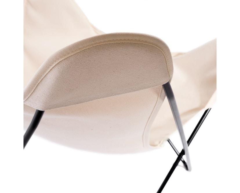 Manufakturplus - Butterfly Chair Hardoy - B.K.F. Chair Stahlrahmen schwarz, Pure Cotton - 6