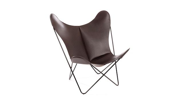 Manufakturplus - Butterfly Chair Hardoy - Blankleer - Staal wit - Blankleder bruin - 4