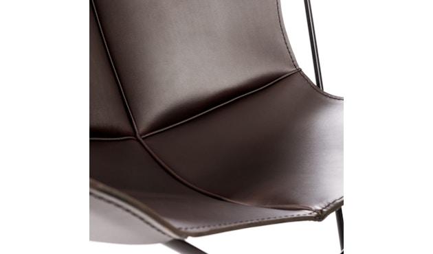 Manufakturplus - Butterfly Chair Hardoy - Blankleer - Staal wit - Blankleder bruin - 6