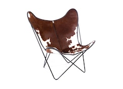 Manufakturplus - Butterfly Chair Hardoy - koeienhuid - 1