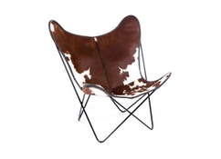 Manufakturplus - Butterfly Chair Hardoy - Peau de vache - 1